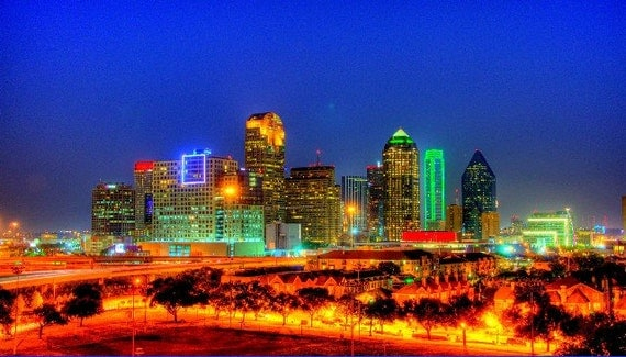 Dallas Skyline, HDR