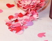 100 Pieces - Connecting Hearts Hand Punched Confetti - Great for Showers and Weddings, available in your choice of colors