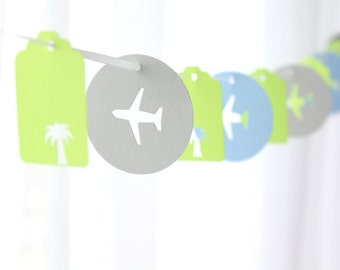 "6 Foot - 2"" Tropical Vacation Garland - available in your choice of colors  -  Perfect for Parties, Bridal or Baby Showers"