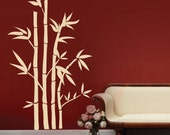 Wall decals LARGE BAMBOO STALKS Modern surface graphics - Vinyl art decor by Decals Murals (46x77)