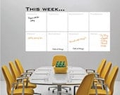 Dry erase THIS WEEK Writable erasable wall decals - Removable interior decor by Decals Murals (28x51)