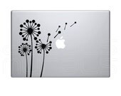 Laptop decals GEOMETRIC DANDELIONS Vinyl surface graphics - Macbook skin - by Decals Murals