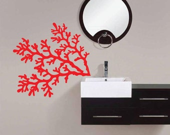Wall decals CORAL REEF BRANCHES Vinyl Removable Art Stickers by Decals Murals