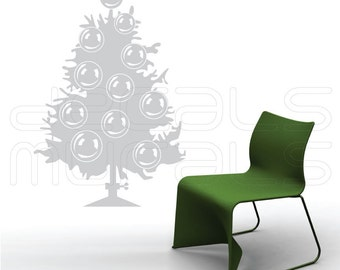 Wall Decal CHRISTMAS TREE holiday wall decor by Decals Murals Large