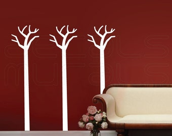 Wall decals TALL SIMPLE TREES Vinyl art stickers for walls decor by Decals Murals (Medium)