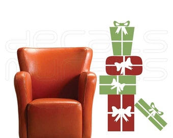 Holiday wall decals PRESENTS STACK Christmas surface graphics interior decor by Decals Murals
