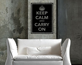 Keep calm and Carry On WALL DECALS Quotes - Quote Lettering by Decals Murals (22x28)