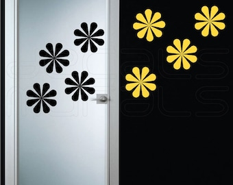 Wall decals GEOMETRIC DAISY Vinyl surface graphics interior decor by Decals Murals (Large)