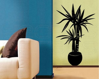 Wall decals HOUSE PLANT Vinyl art stickers - Modern decor by Decals Murals (22x34)