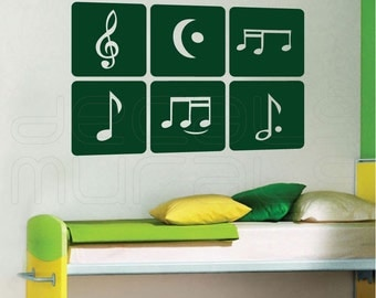 Wall decal MUSIC NOTES Decor stickers for children nursery kids by Decals Murals