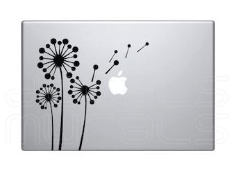 Laptop decals GEOMETRIC DANDELIONS Vinyl surface graphics - Macbook skin - by Decals Murals