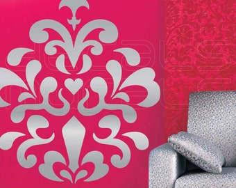 Wall decals MOD DAMASK Vinyl stickers interior decor by Decals Murals (34x30)