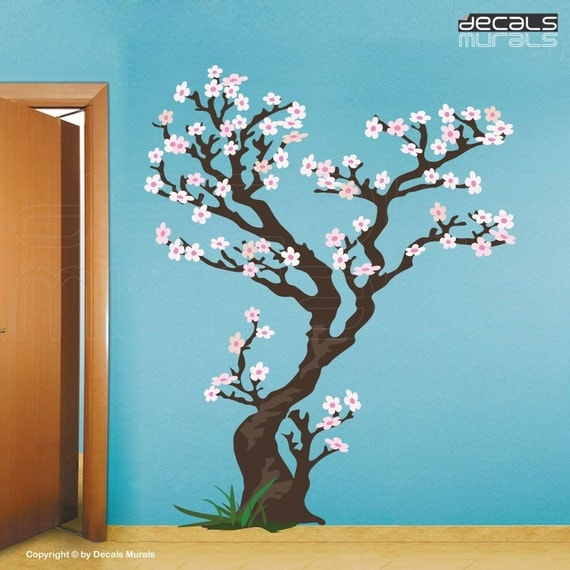 Cherry Tree Removable decals for wall Vinyl Art Stickers by DECALS MURALS