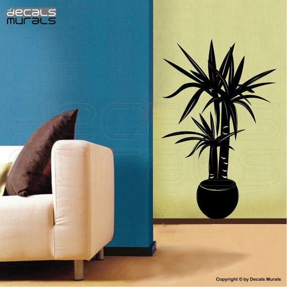 Wall decals HOUSE PLANT Vinyl art stickers - Modern decor by Decals Murals (22x34)