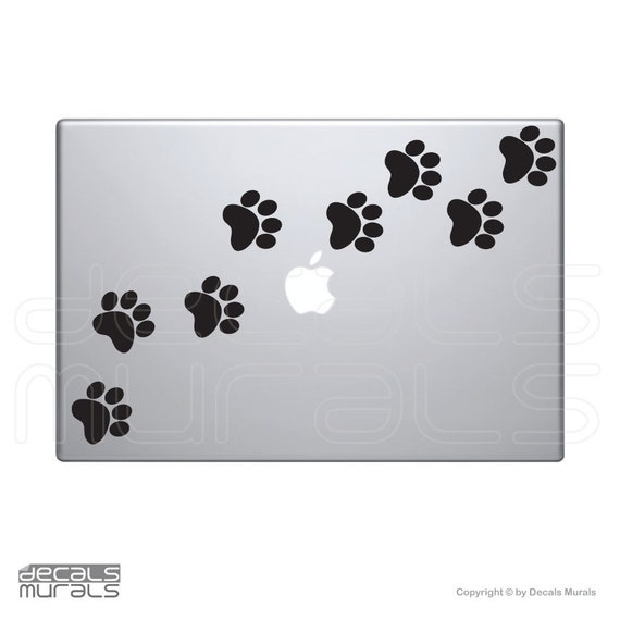 Laptop decals DOG PAW PRINTS Vinyl surface graphics - Macbook skin by Decals Murals