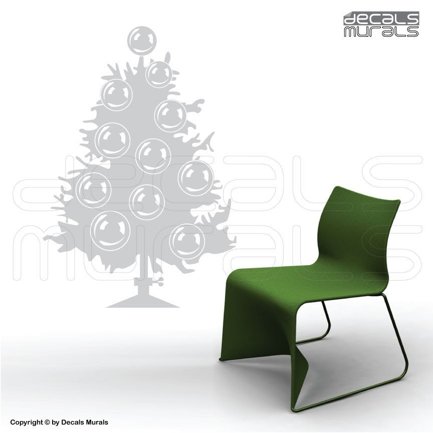Liamaria Christmas Tree Wall Decoration : Wall decal christmas tree holiday decor by decals murals
