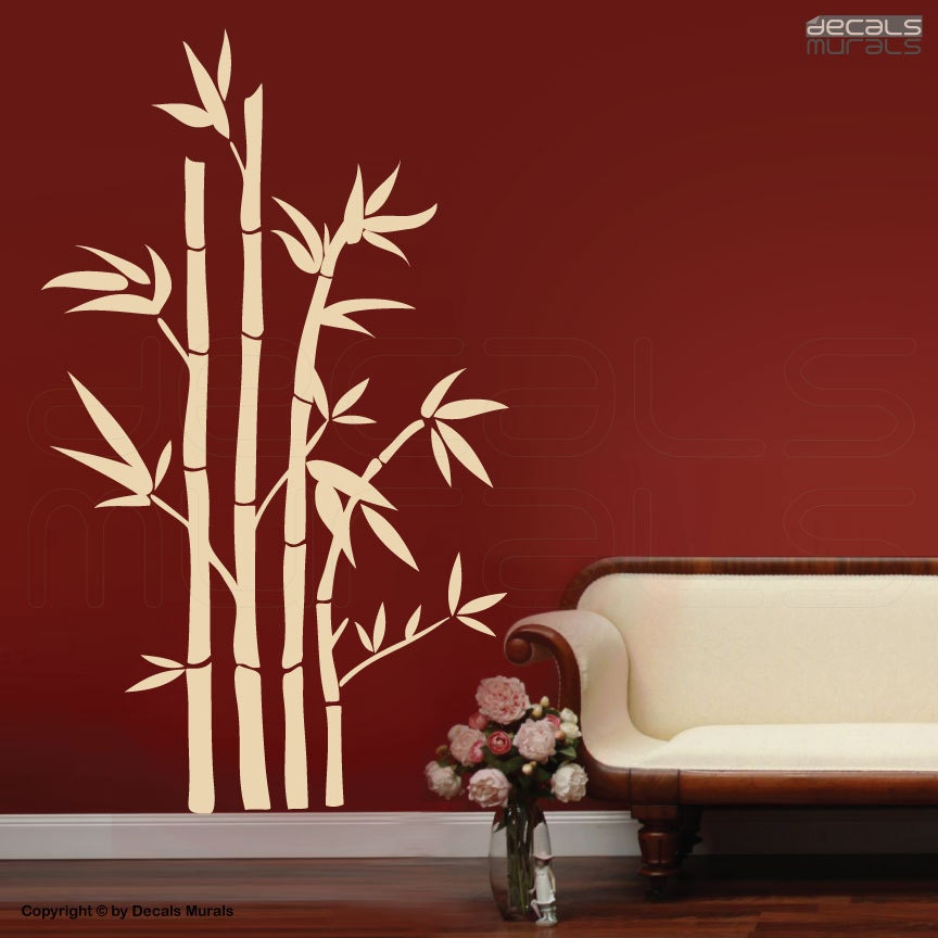 wall decals large bamboo stalks modern surface graphics. Black Bedroom Furniture Sets. Home Design Ideas