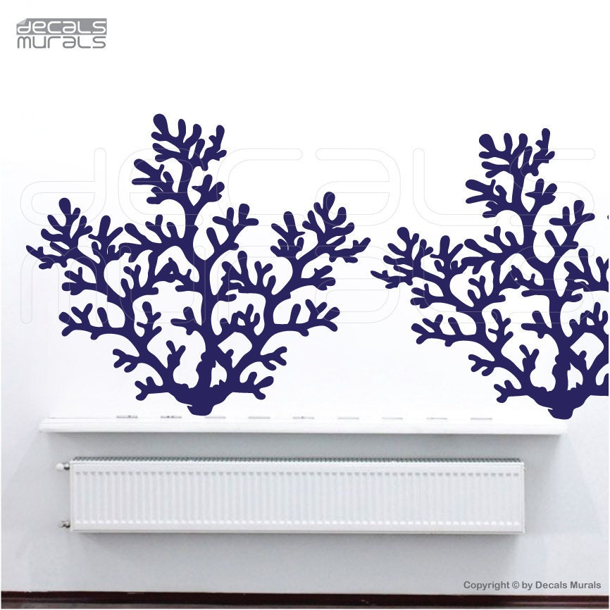 Wall decals large CORAL REEF BRANCH Vinyl art interior decor