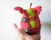 Pear Cozy Apple Cozy With Vintage Button