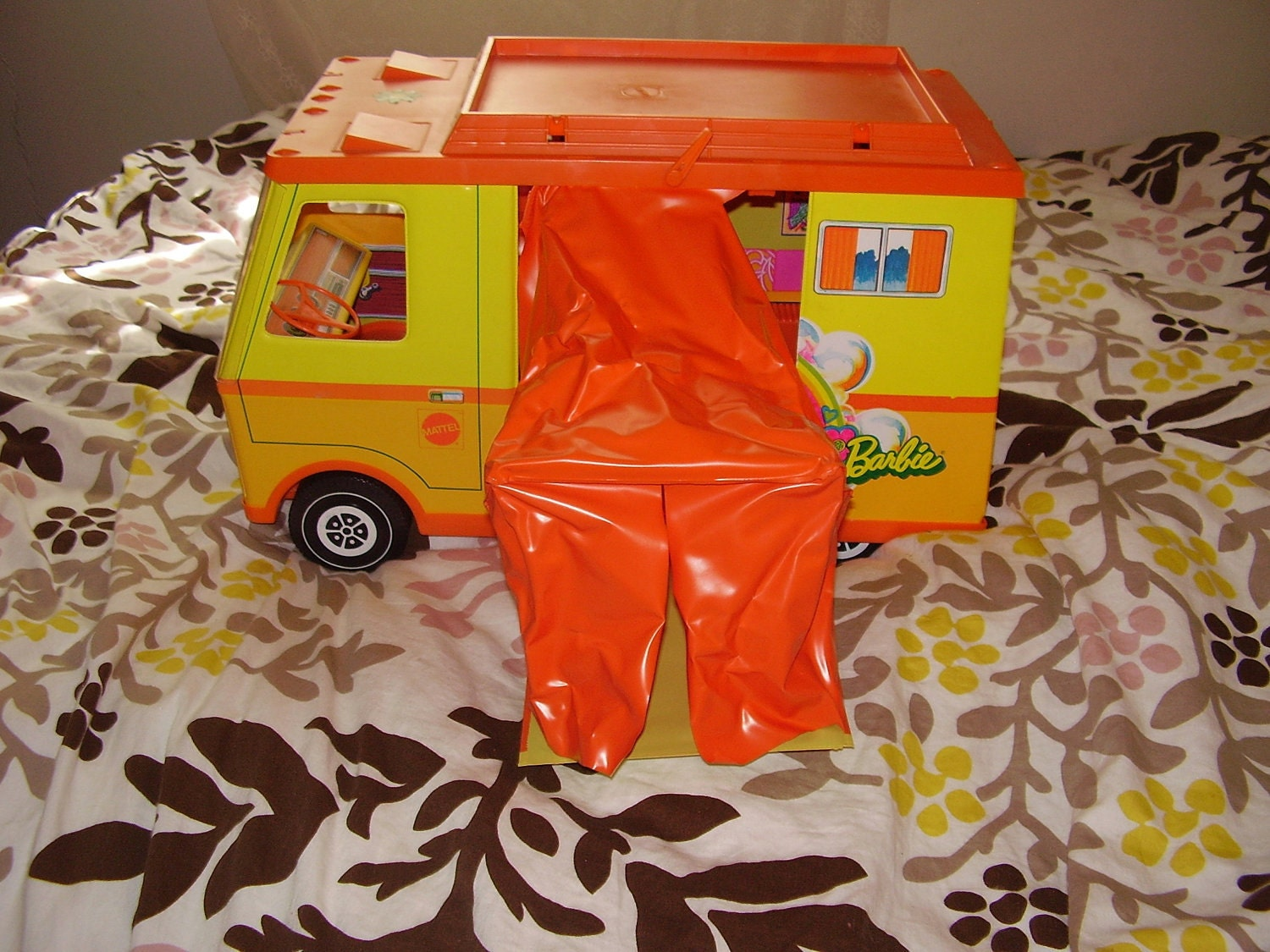 Hippie Barbie Camper Van 1970s In Excellent Condition Includes