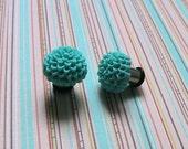 Teal Chrysanthemum 2g Earrings