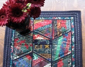 Christmas Cotton Quilted Table Runner in Bold Colors