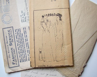 Vintage Nightgown Pattern, Mail Order from New York