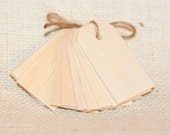 wood gift tags NATURALx50, small wooden gift tags for baby shower, wedding gifts, gift wrap, scrapbooking