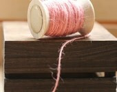 natural jute twine BubBLe Gum PinK x 50 ft, natural jute twine string for packaging, gift wrap twine