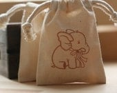 ReSeRvEd for Jeanne Muslin favor bags BaBy ELePhAnT x60 muslin baby shower gift bags, goody bags, favor bags,party favor bags