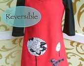 Reversible dress pdf Instant Download sewing pattern, email, tutorial, pocket, summer, winter size 2 to 8 yrs