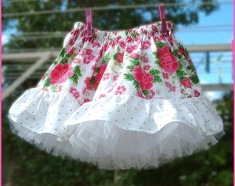 Girls skirt and separate petticoat pdf Instant Download pattern ebook tutorial