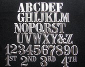 """3"""" Metal Letters & Numbers-Aluminum with nails"""