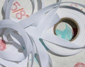 5/8 inch Cotton Tape, bleached, bright white,10 yards, hand made tags, ribbons, sewing notions