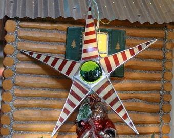 8 inch Peppermint Star