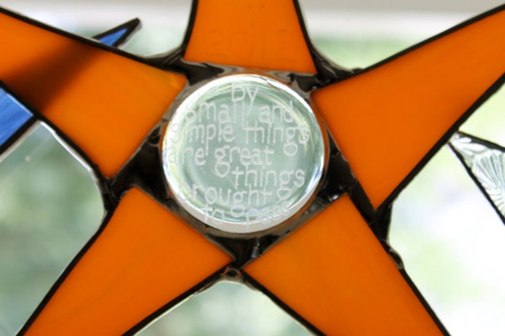 Back to School -Family Motto Stained Glass Star