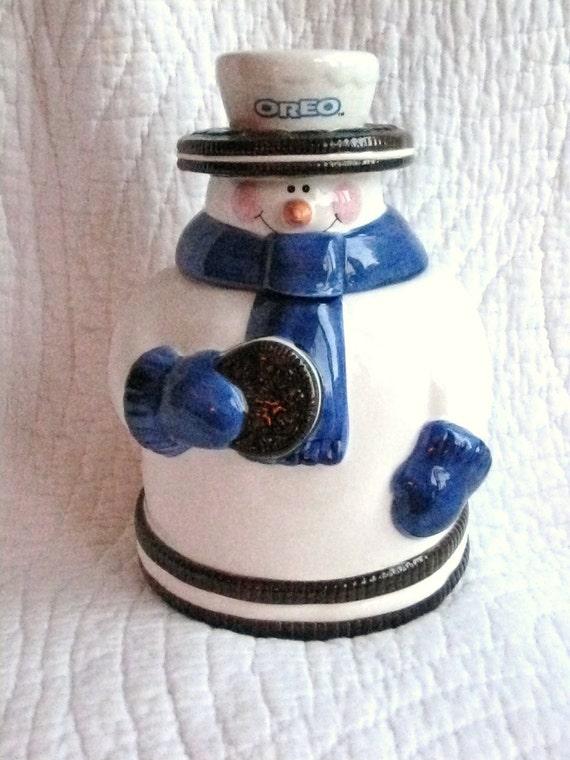 Oreo Snowman Cookie Jar from Nabisco
