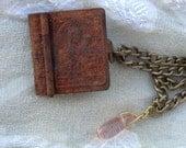 Vintage  Rusty Mini Holy Bible Locket  by Dryw on Etsy
