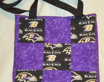 Ravens Quilted Tote/Bag