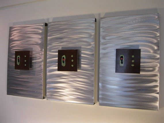 Abstract Metal Wall art sculpture by Holly Lentz