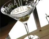 "Personalized ""40th Birthday"" Martini Glass with name and date"