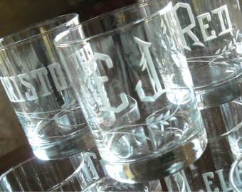 Personalized Dinner Party Place Setting Beverage Glasses