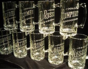 Groomsman Mug Package set of 6- 25oz Beer Mugs