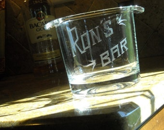 Father's Day - Man Cave Custom Engraved Ice Bucket