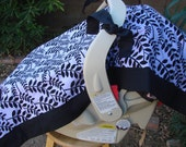 Baby Car Seat Cover - Baby Car Seat Canopy - Purple Car Seat Canopy - Black Car Seat Canopy - Baby Shower Gift