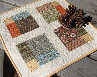 PDF PATTERN, Four Square Table Topper Quilt