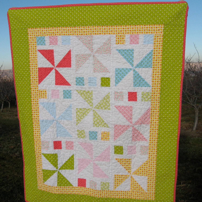 Pdf Pattern Pinwheel Parade Crib And Doll Quilt