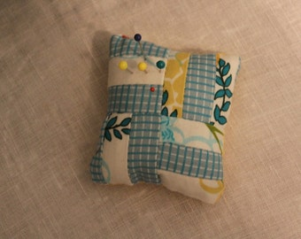 Striped Patchwork Pin Cushion