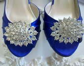 Wedding Shoes - Bling - Shoe Clips - Handmade Shoe Clips - Rhinestone Shoe Clip - Shoe Decoration - Handmade Wedding - Shoe Clip By Parisxox