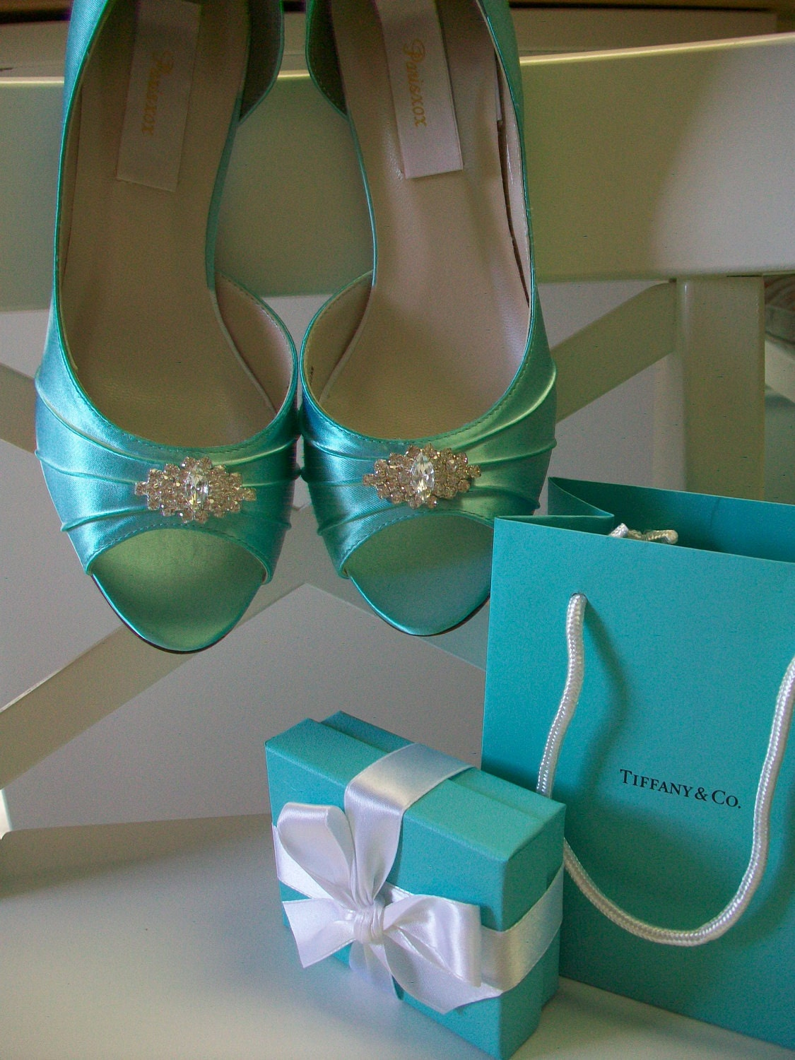 Wedding Shoes Aqua Blue Crystals Aqua Blue Wedding